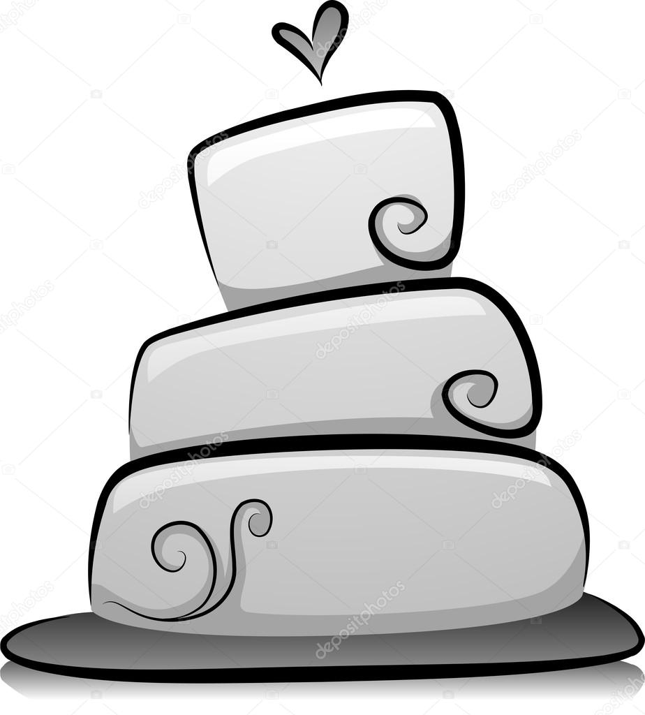 Hochzeitstorte In Schwarz Und Weiss Stockfoto C Lenmdp 32058399