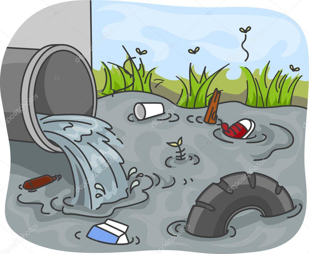 Imágenes Aguas Residuales Para Colorear Contaminación De Aguas