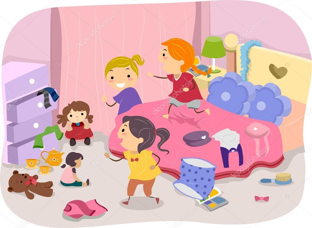 cuarto de niñas — Fotos de Stock © lenmdp #39461941