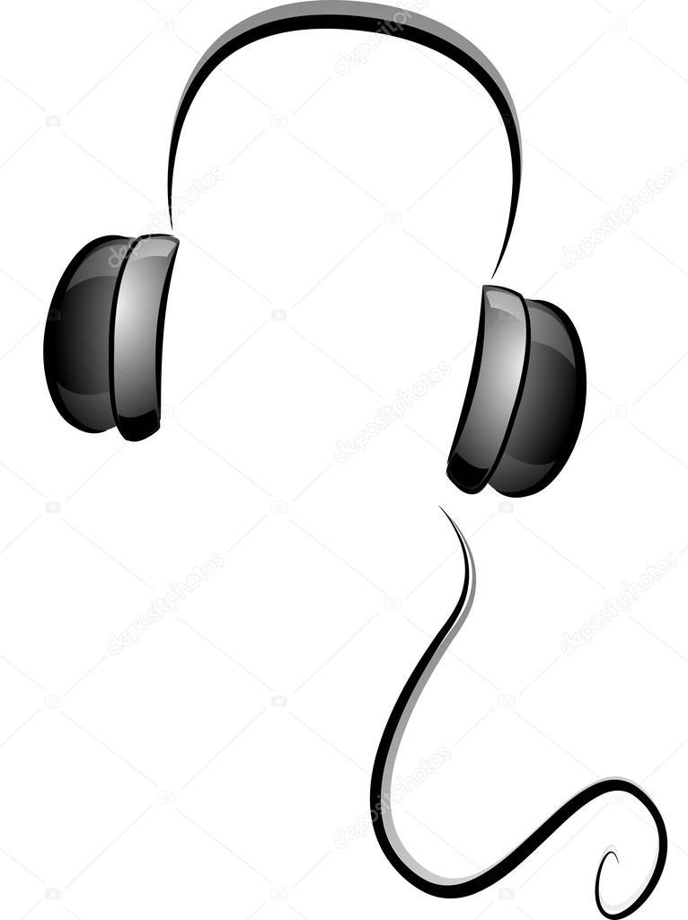 Schwarz-Weiß-Kopfhörer — Stockfoto © lenmdp #39464861