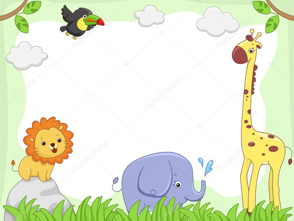 Safari Animal Frame — Stock Photo © lenmdp #39467369