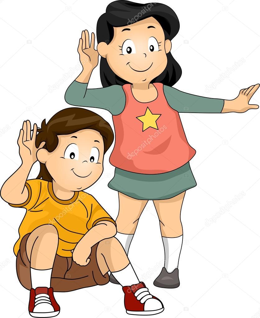 luisterende kinderen stockfoto 169 lenmdp 48930765