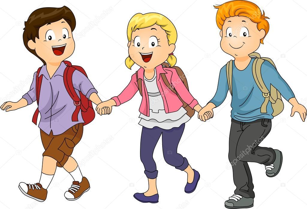 картинки ребят которые идут в школу