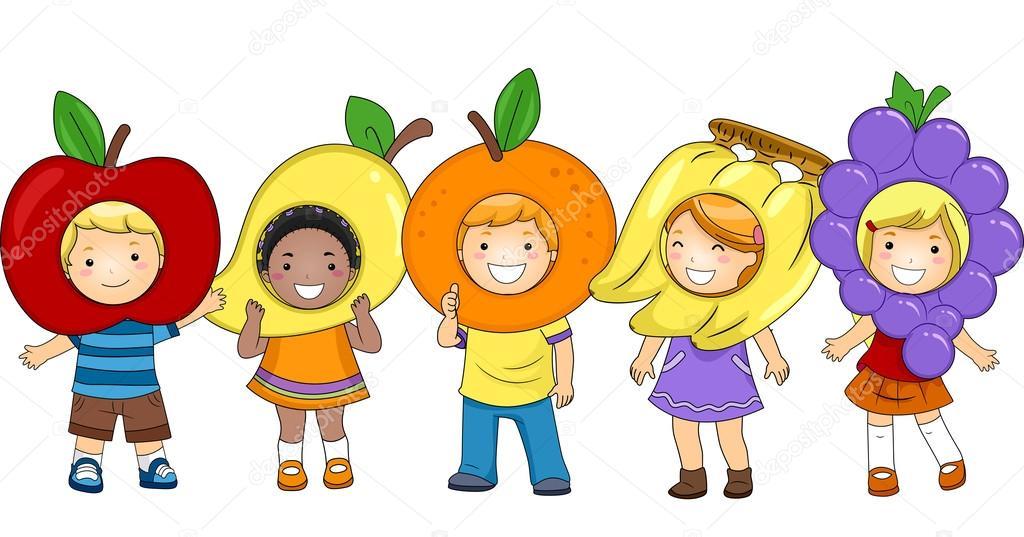 Resultado de imagen de frutas y niños