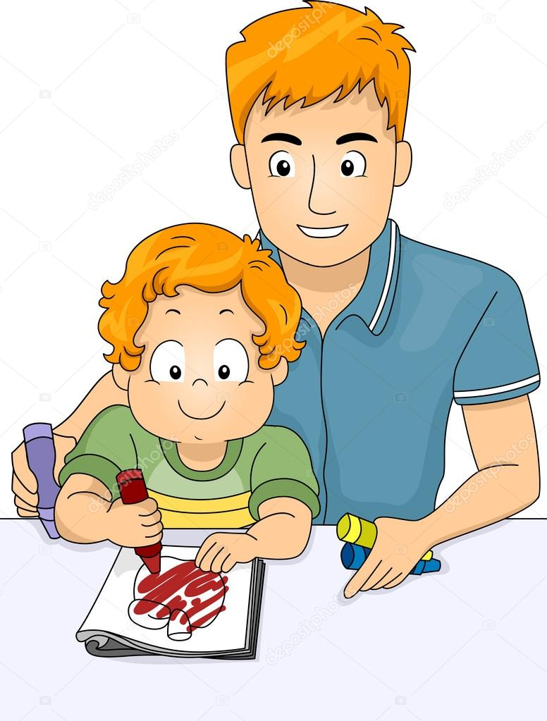 мультяшная картинка отец и сын вся такая обувь
