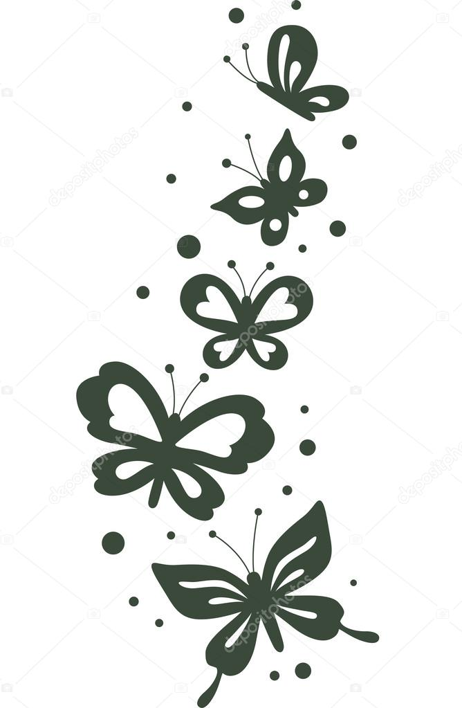 Schmetterling Schablone — Stockfoto © lenmdp #51515713
