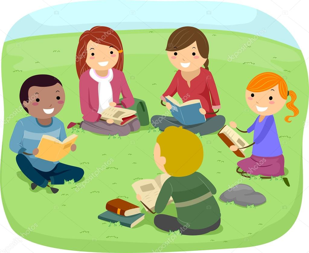 Adolescentes Lendo Livros