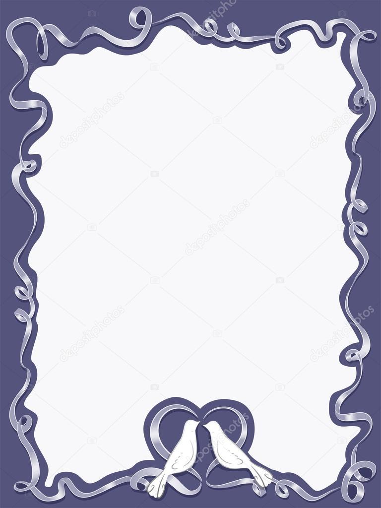 boda Paloma marco — Foto de stock © lenmdp #51518243