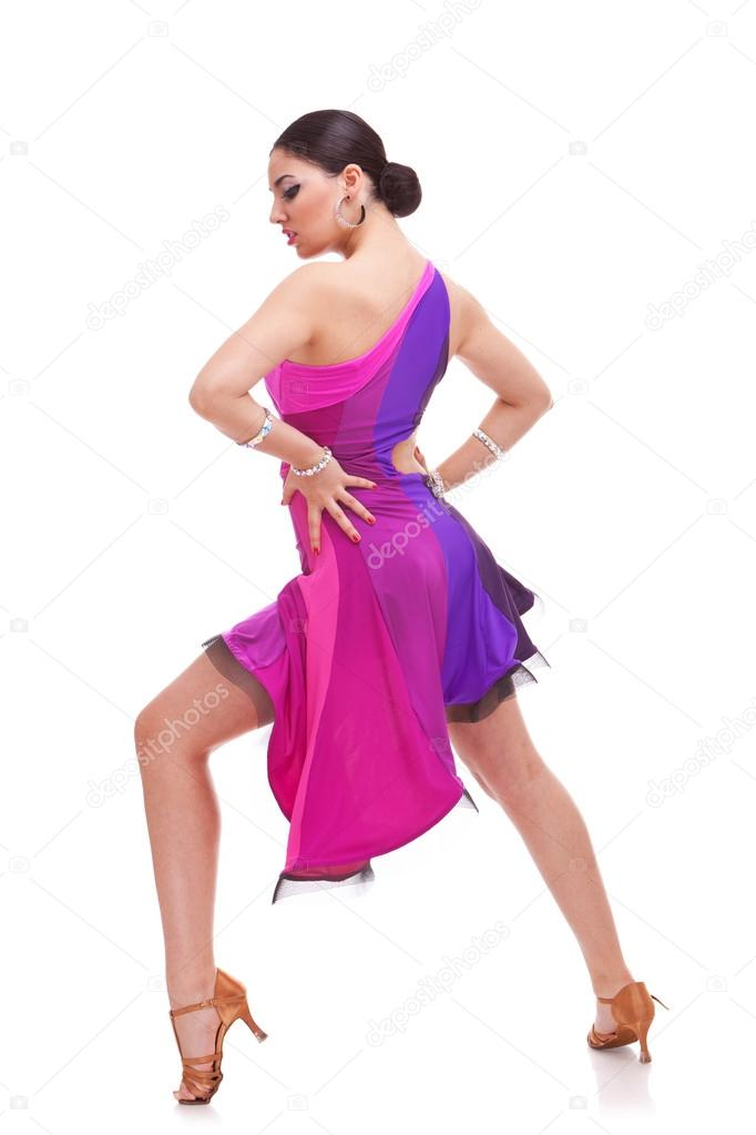 Salsa dancer with hands on hips