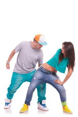 hip hop dancing couple
