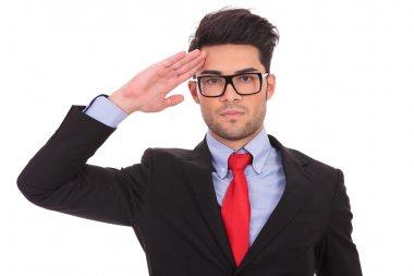business man saluting