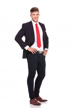 business man with hands on waist