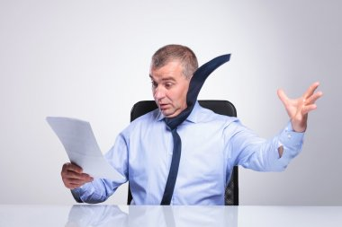 old business man blown off by documents