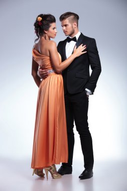 fashion couple holding eachother