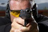 muž Střelba na venkovní střelnici