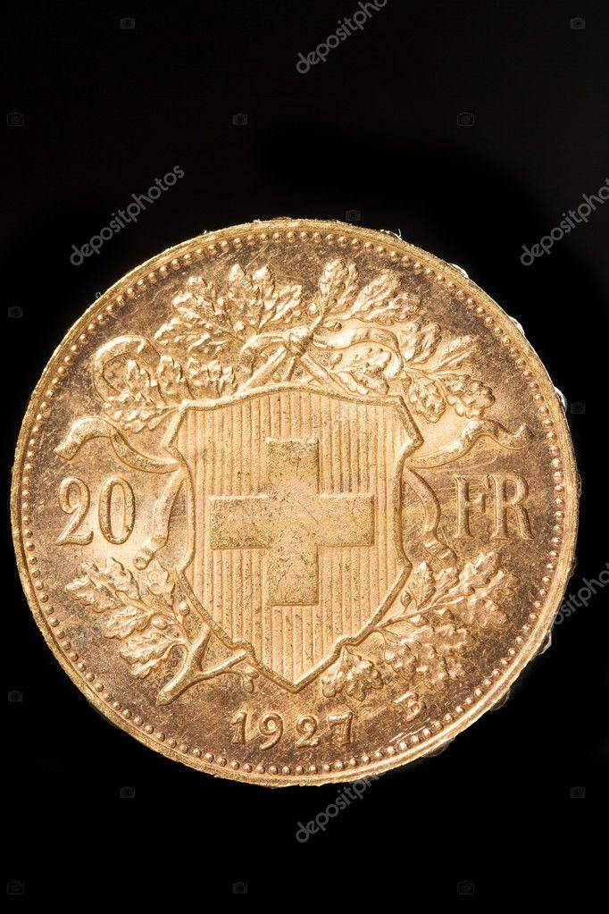 20 Schweizer Franken Münzen Stockfoto Netfalls 17698641