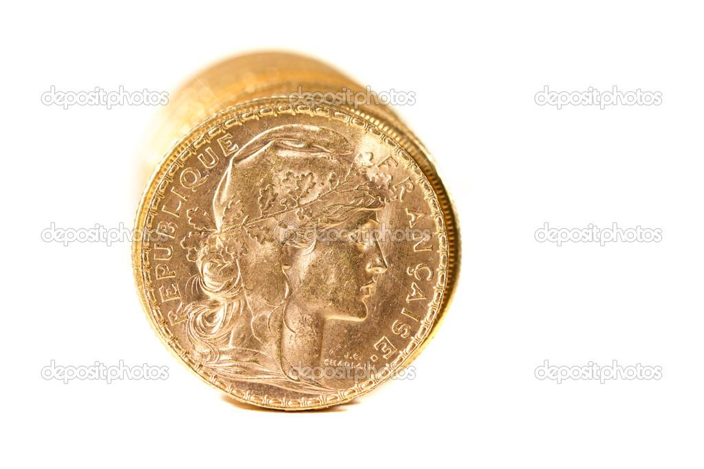 Zwanzig Französische Franc Münzen Stockfoto Netfalls 18075623