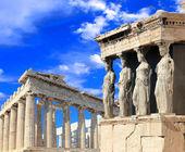karyatidy, strany Erechtheia chrám Akropolis