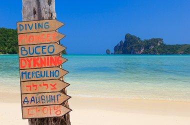 Beautiful bay of Phi Phi island Thailand