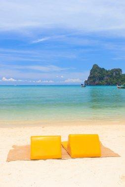 Sunbeds on the island of Koh Phi Phi