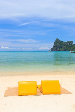 Sunbeds on the island of Koh Phi Phi