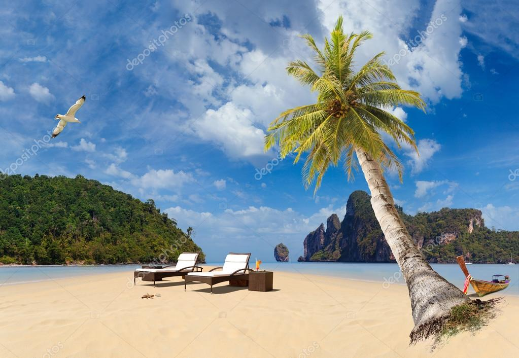 Tropical beach of Phi Phi island