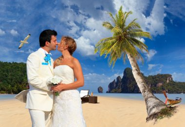 married couple on the beach on Ko Phi Phi island