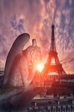 Chimera (gargoyle) of the Cathedral of Notre Dame de Paris