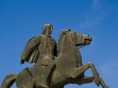 Statue of Alexander the Great at Thessaloniki Greece