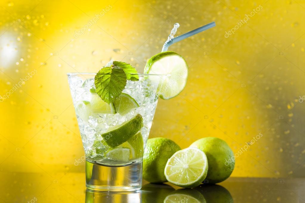 Mojito cocktail at the club
