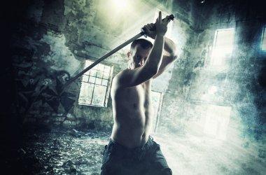 Warrior with his Katana