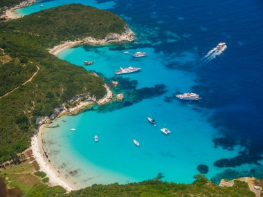 Aerial view of Voutoumi beach in Paxos
