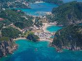 Luftaufnahme der Bucht von Paleokastritsa auf Korfu