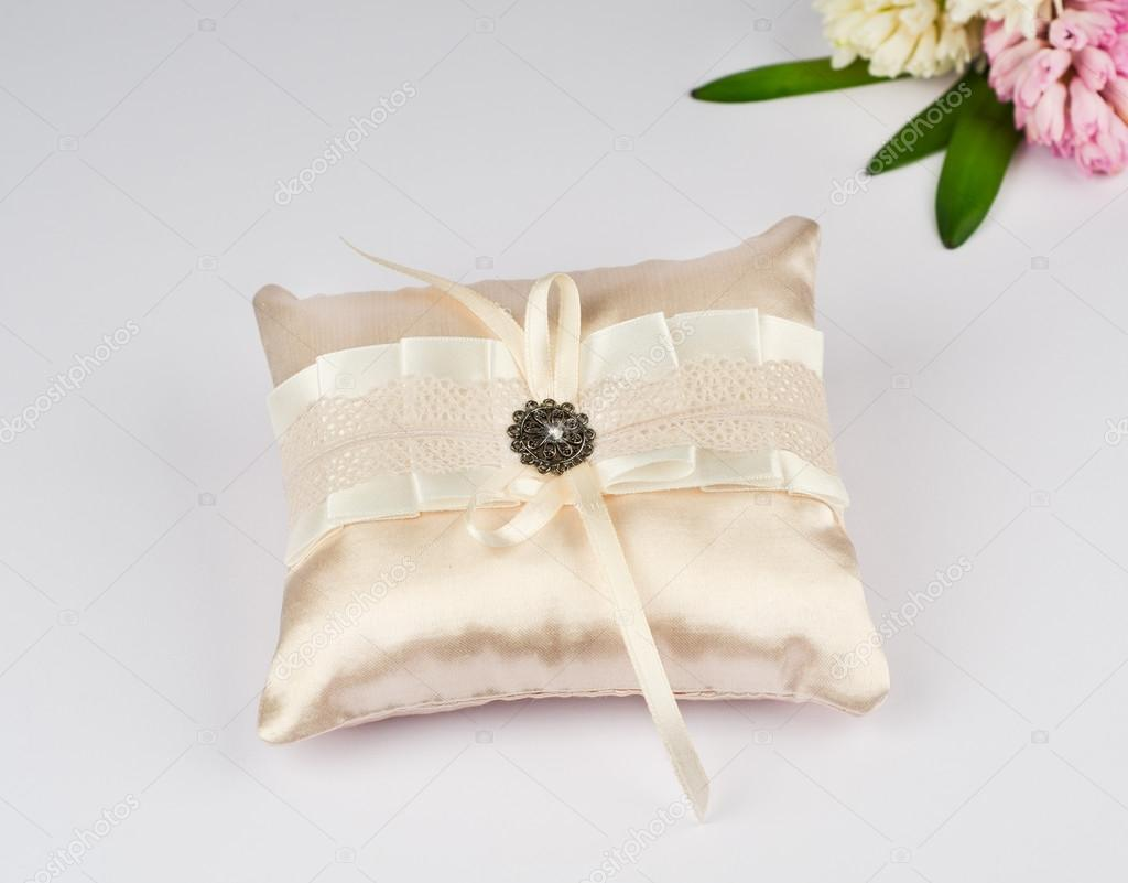 wedding ring pillow beautiful pillow for wedding rings stock photo 9974