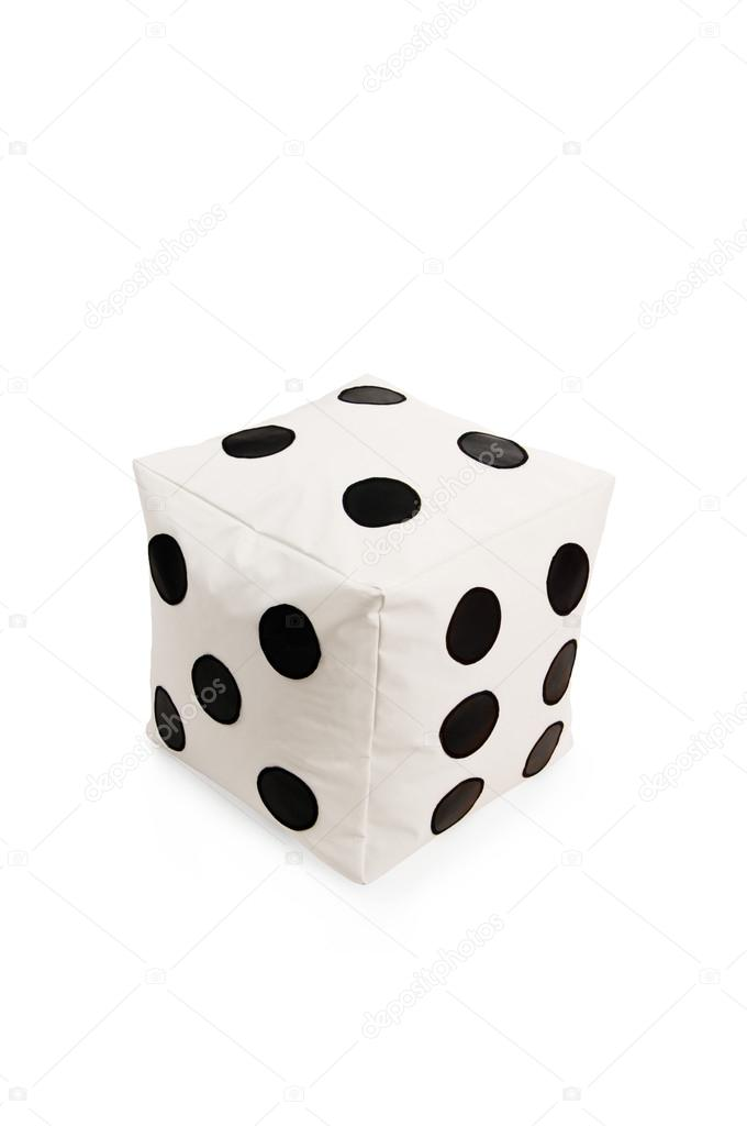 Remarkable Nice And Soft Beanbag Chair In Shape Of Dice Stock Photo Evergreenethics Interior Chair Design Evergreenethicsorg