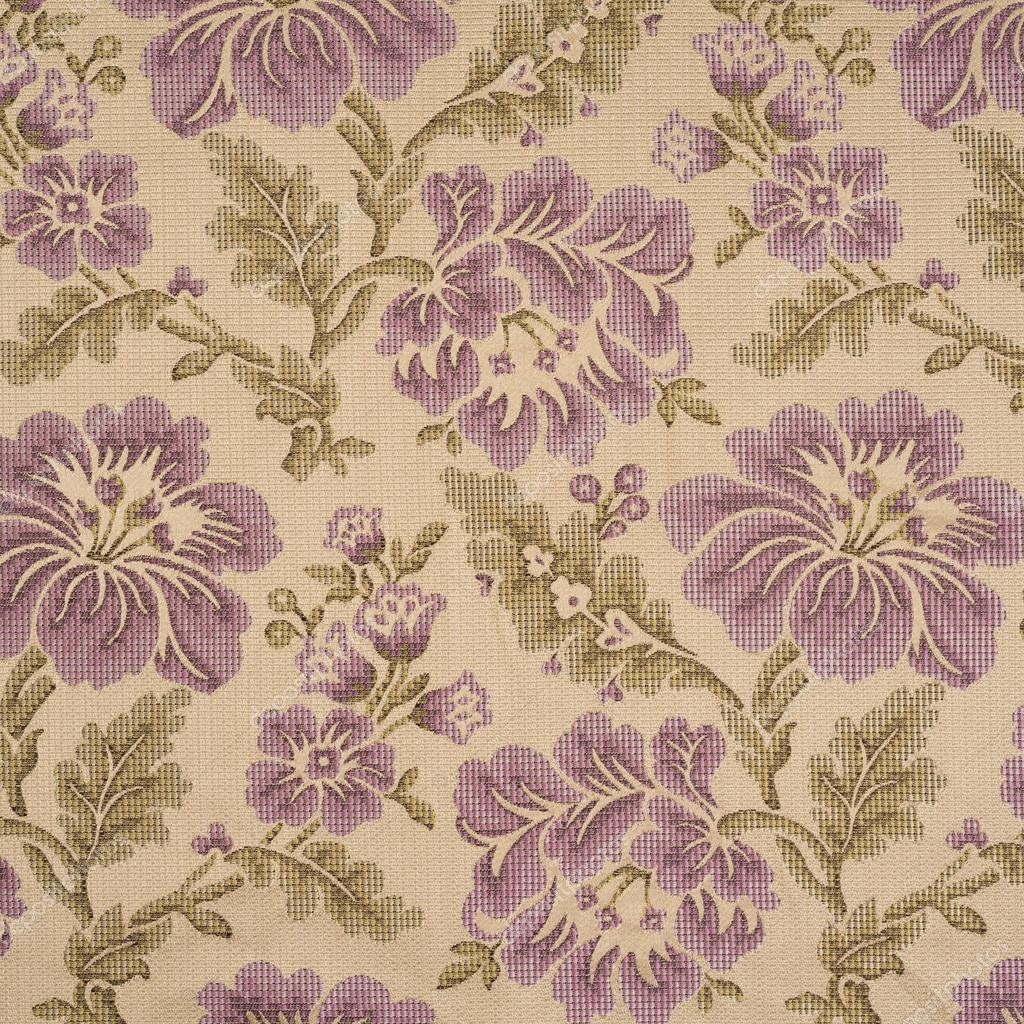 Fabric background with floral pattern