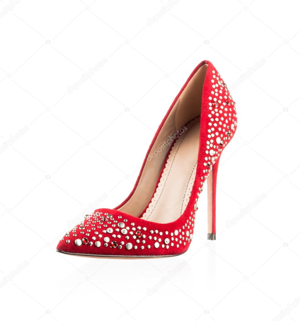 18ee29fe2df502 modische rote Damen Schuh — Stockfoto © nikitabuida  35023923