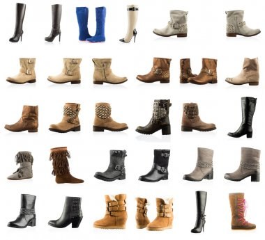 Collection of various types boots