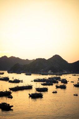 Cat Ba port sunset