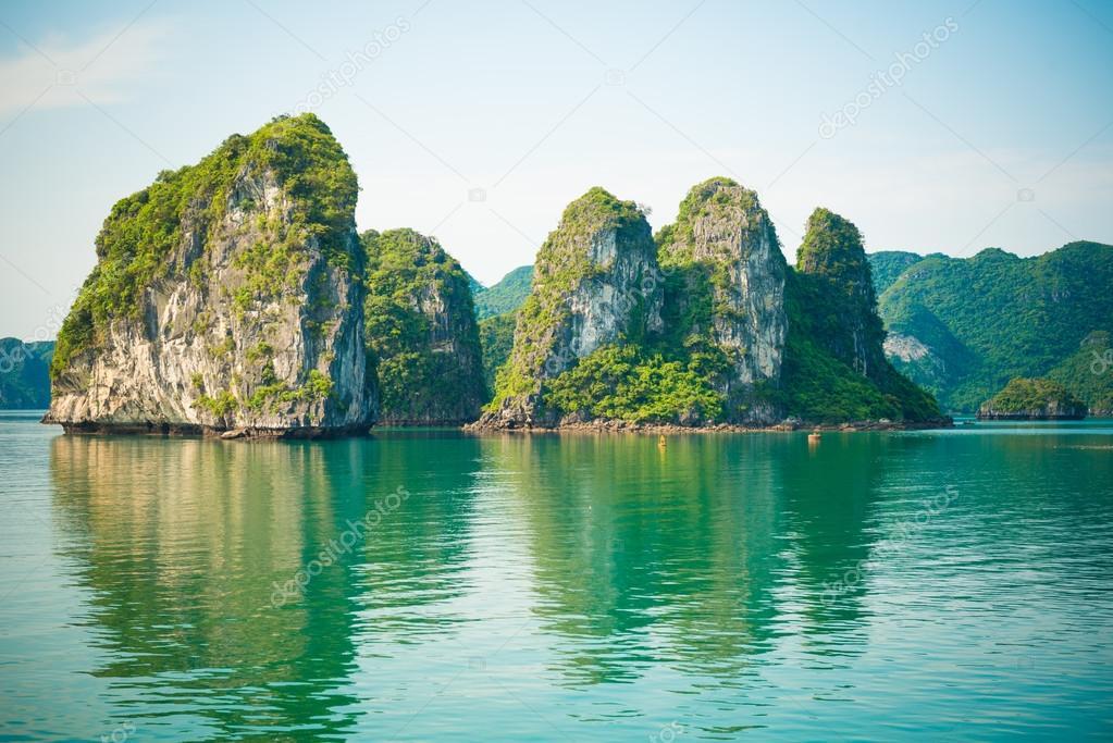 Limestone Halong bay landscape