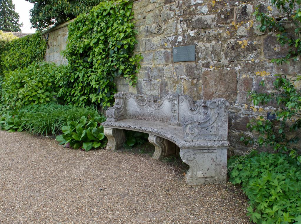 Phenomenal Curved Stone Bench Seat Stone Seat Against Wall Stock Bralicious Painted Fabric Chair Ideas Braliciousco