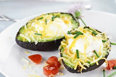 Avocado with Eggs and Cheese