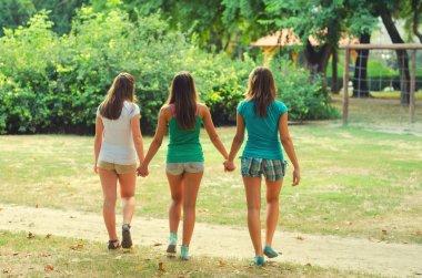 Best friends holding hands