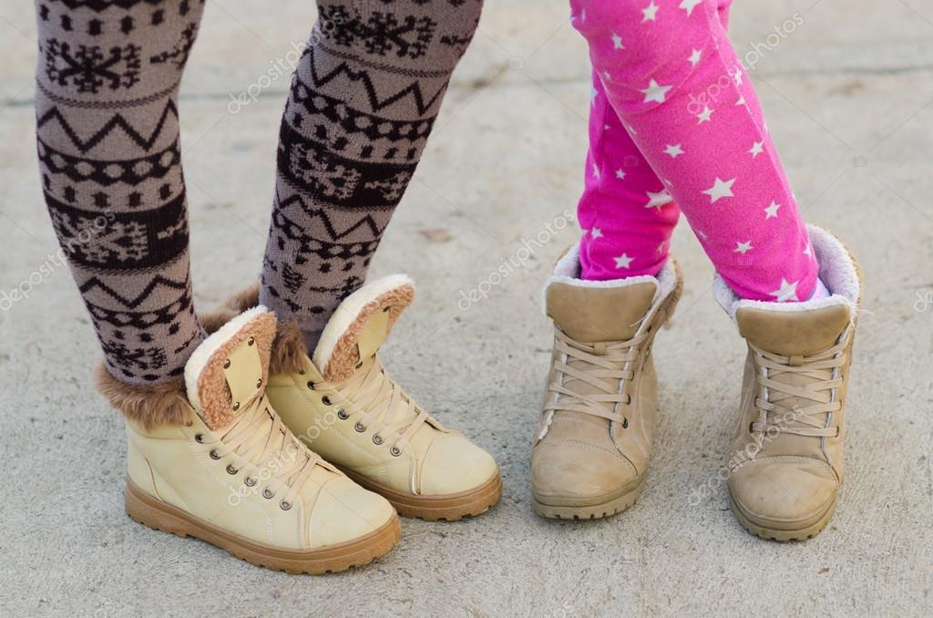 Legs of teenage girls