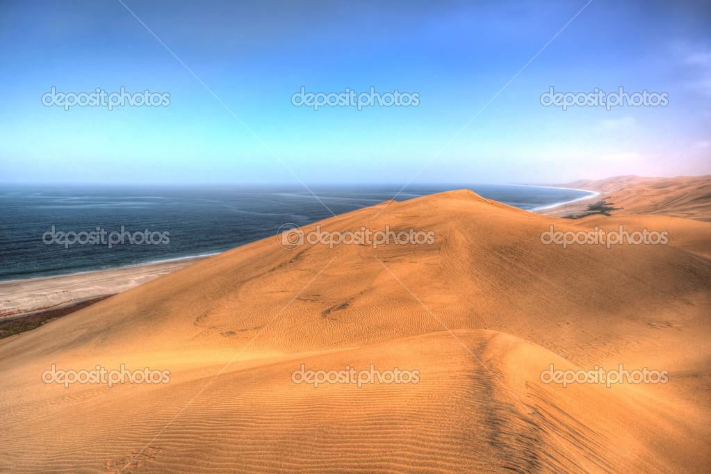 Where desert meats ocean