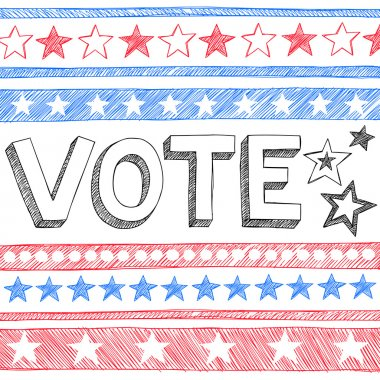 Vote Presidential Election Back to School Style Sketchy Notebook Doodles