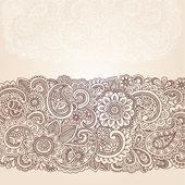 Fotografia Henna mehndi doodles elementi astratto disegno floreale paisley