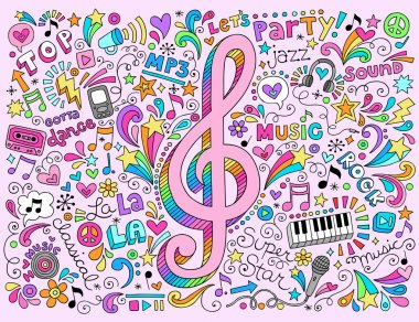 Music Note Sketchy Back to School Doodles