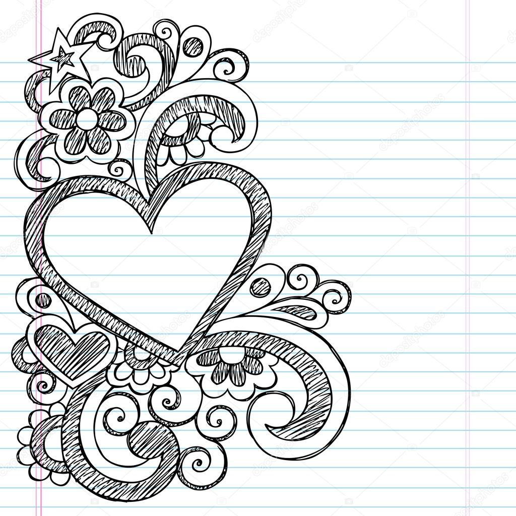 Cute Border Designs To Draw On Paper Easy Heart Frame