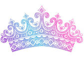 Fotografie Hand-Drawn Sketchy Royalty Princess Tiara Crown